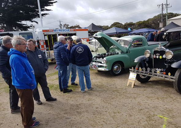 Display of Restored Cars worked on by members