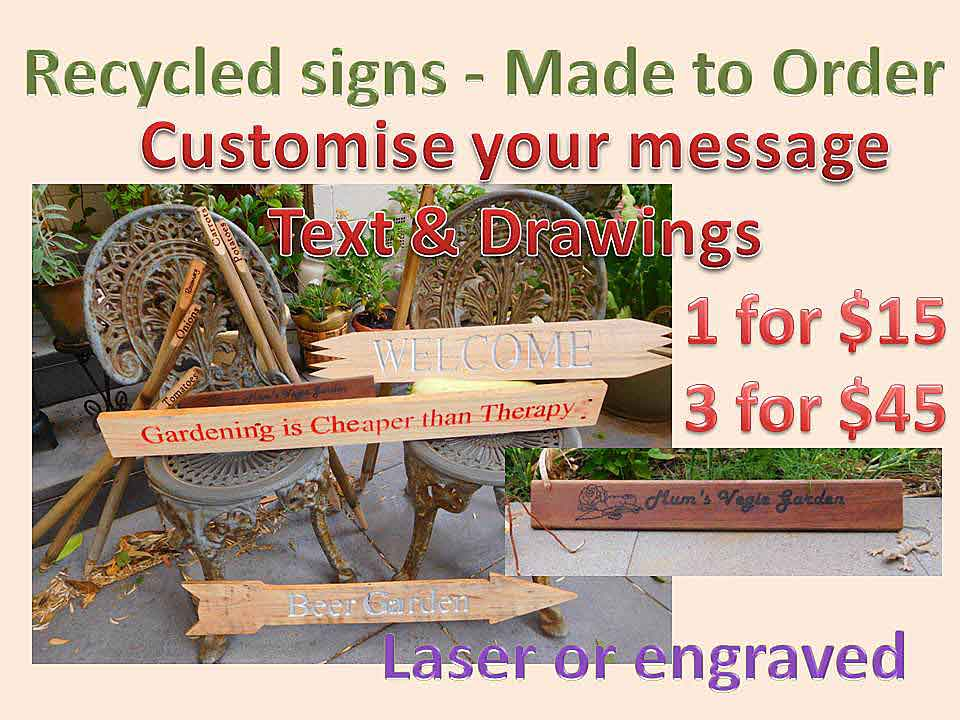 Recycled Signs leaflet